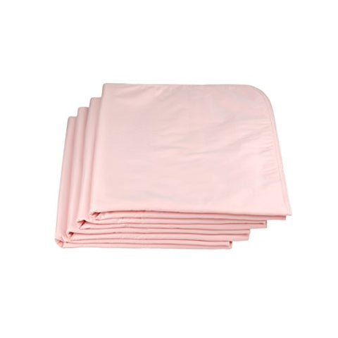 Linteum Textile (4-Pack, 34x36 in, Pink) Reusable UNDERPADS, Made in USA, 100% Cotton Birdseye Face Fabric