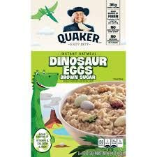 Quaker Dinosaur Eggs Instant Oatmeal (Pack of 6)