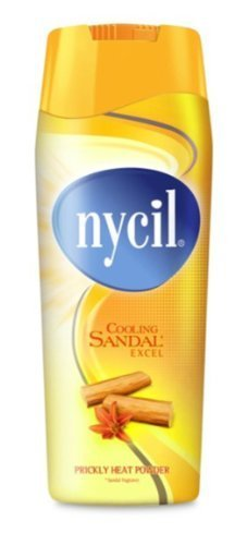 Nycil Cooling Sandal Excel Prickly Heat Powder Soothing & Cooling Talc 150g by Nycil Excel's