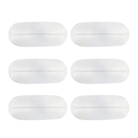 Healifty Bra Strap Cushion Holder Silicone Shoulder Pads Non-Slip Strap Pads for Madam Girl Lady Women 6PCS White