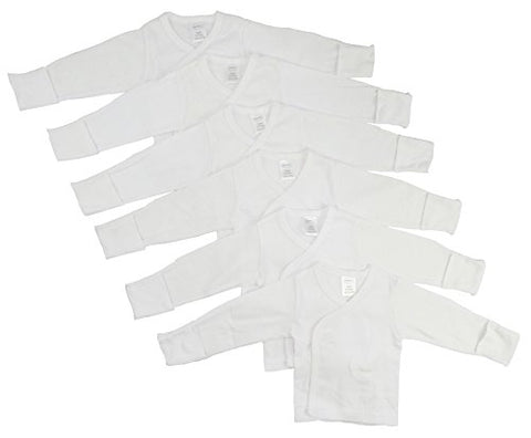 Bambini Long Sleeve Side Snap With Mittens 6 Pack