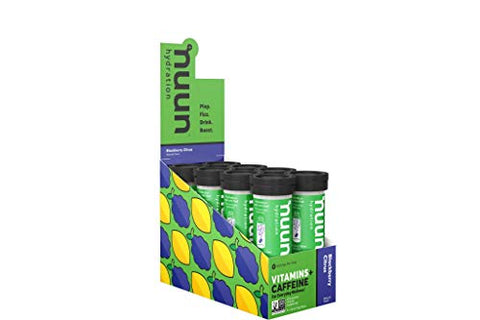 Nuun Vitamins: Vitamins + Electrolyte Drink Tablets, Blackberry Citrus, Box of 8 Tubes (96 Servings), Enhanced Everyday Wellness & Energy