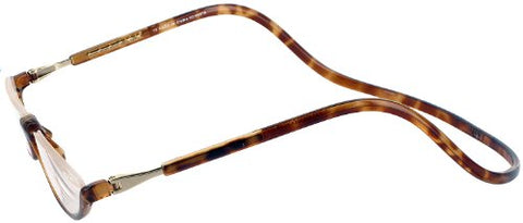 Clic Sonoma Single Vision Half Frame Designer Reading Glasses, Light Tortoise, 1.75