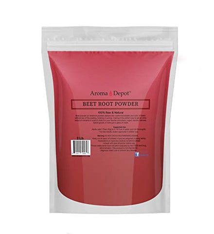 Beet Root Powder 2 lb. by Aroma Depot Raw & Non-GMO I Vegan & Gluten Free I Nitric Oxide Booster I Boost Stamina and Increases Energy I Immune System Booster I 100% Natural
