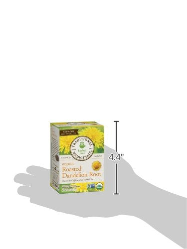 Traditional Medicinals Organic Roasted Dandelion Root Herbal Leaf Tea, 16 Tea Bags (Pack of 6)