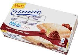 Entenmann's | Minis Cherry Snack Pies| Lightly Glazed | Delicious | Tasty | Yummy | 12 oz | 6 Individually Wrapped count | 1 Box |