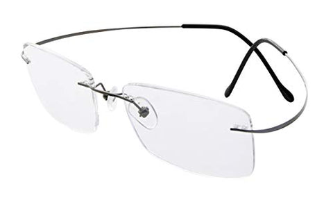 Eyekepper Titanium Rimless Eyeglasses Men Gunmetal