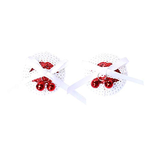 Role Play Game Set White Flake Adjustable Clamps Sticker Masquerade Hallowmas Cosplay Costume Accessory