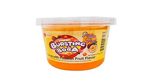 Bursting Popping Boba 4 Flavor Fun Pack (Passion fruit, Blueberry, Mango, Pomegranate)