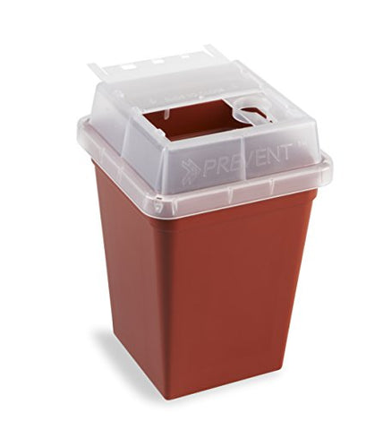 Heathrow Scientific HS120177 Sharps Container, 1 L, Red (Pack of 18)