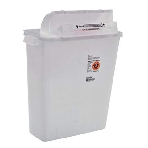 Covidien 8536SA SharpSafety Safety in Room Sharps Container Counterbalance Lid, 3 gal Capacity, Clear