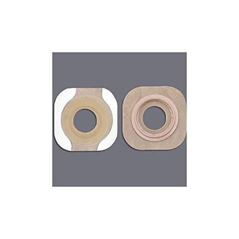 New Image FlexWear Colostomy Barrier, Pre-Cut, Standard Wear Tape 2-1/4 Inch Flange Red Code Hydrocolloid 1-1/2 Inch Stoma, 14308 - Box of 5