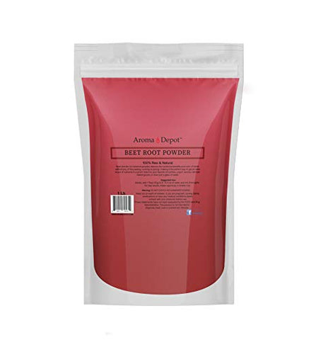 Beet Root Powder 1 lb. by Aroma Depot Raw & Non-GMO I Vegan & Gluten Free I Nitric Oxide Booster I Boost Stamina and Increases Energy I Immune System Booster I 100% Natural