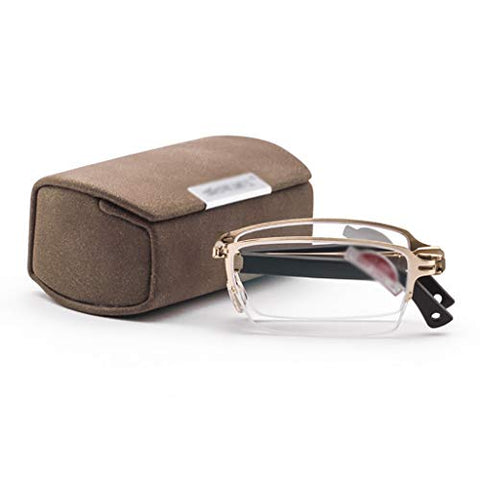 Anti-Blue Reading Glasses Folding Portable Ultra-Light Anti-Fatigue Glasses for Women and Men +1.0 to +3.0