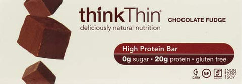 Thinkthin, Bar High Protein Chocolate Fudge Box, 2.1 Ounce, 10 Count