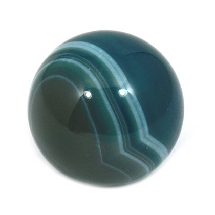 CrystalAge Banded Agate Sphere ~ Blue - SAGG Small