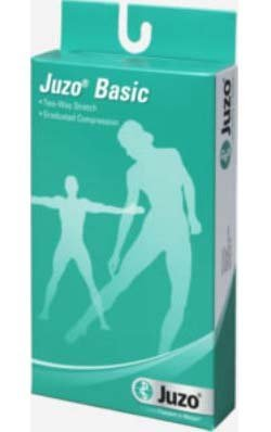 Juzo Basic Knee High Stockings Full Foot Beige, Size 3, Medium, Compression 12-16 mmHg, 1 Pair, Mod