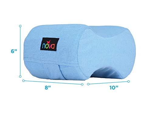 NOVA Knee Pillow with Positioning Strap, Foam Cushion Leg Pillow with Soft Terry Cloth Removable & Washable Cover, Comes in 2 Sizes - Small & Standard