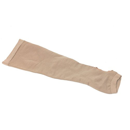 Compression Arm Sleeve with Gauntlet, Lymphedema Post-Op Support, Small (No Thumb Hole)