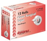 "Tape Surgical Transparent (12) Size: 1""X10 YD"
