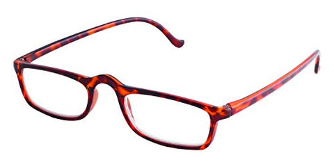 Dr. Dean Edell Basic Rectangle Glasses, Tortoise (+1.25)
