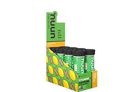 Nuun Vitamins: Vitamins + Electrolyte Drink Tablets, Ginger Lemonade, Box of 8 Tubes (96 Servings), Enhanced Everyday Wellness & Energy
