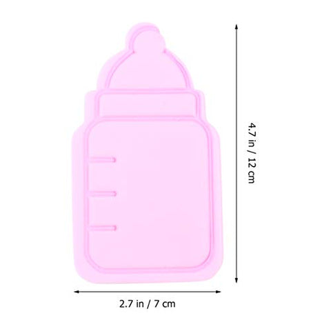 TOYANDONA 2 pcs Baby Bathing Sponge Cartoon Feeding Bottle Shape Shower Body Back Exfoliator Reusable Shampoo Bubble Sponge for Newborn Toddler