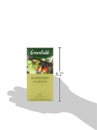Greenfield Barberry Garden Black Tea Fruit & Herbal Collection 25 Teabags The Execptional Freshness