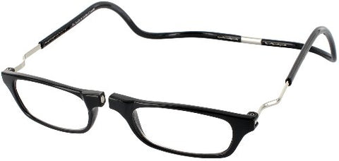 CliC Reader XXL Single Vision Half Frame Designer Reading Glasses, Black, +2.50