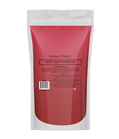 Beet Root Powder 8 oz. by Aroma Depot Raw & Non-GMO I Vegan & Gluten Free I Nitric Oxide Booster I Boost Stamina and Increases Energy I Immune System Booster I 100% Natural