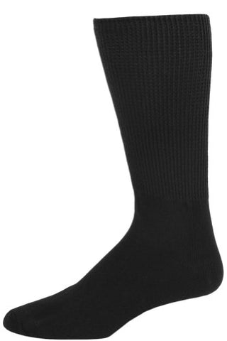 Extra Wide Mens Black Medical Diabetic Socks 1 Pair - Size 8-11