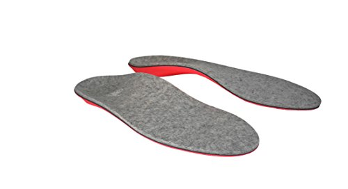 Powerstep Journey Wool Insoles Athletic Sandal, Gray/Red, Men's 6 6.5 / Women's 8 8.5