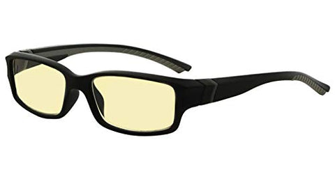 Eyekepper 94% Blue Light Blocking Computer Glasses, Yellow Tinted Lens (Black/Grey Arm)