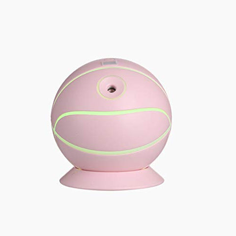 Dermanony Household Mini Humidifier, 4 in 1 Basketball Air Humidifier Ultra Car Diffuser Household USB Fog Make Pink