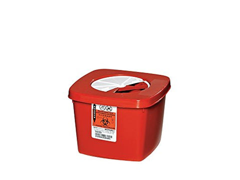 Sharps Container, 1/2 Gal., Rotor Lid, PK5