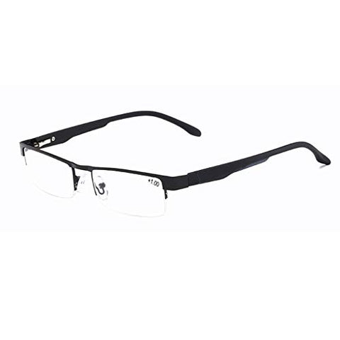 QQAA Reading Glasses Black_ Always Have A Timeless Look, Crystal Clear Vision, Comfort Fit with Spring Hinge Arms Screws 100% Guarantee