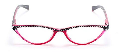 Cat Eye Retro Reading Glasses for Women Red by Florida Glasses +2.50