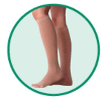 Varin Soft Below-Knee - Full Foot Stocking, Beige, Size 3, Medium, Compression 40-50 mmHg, 1 Pair,