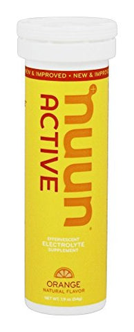 Nuun Active: Orange Electrolyte Enhanced Drink Tablets (2 Tubes of 10 Tabs)