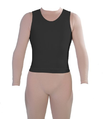 Style 7501 - PN Male Compression Tank by Contour | Compression Garments | ContourMD (L - Black)