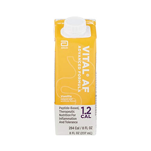 Vital AF 1.2 Cal Vanilla Flavor 8 oz. Carton Ready to Use, 64828 - Case of 24