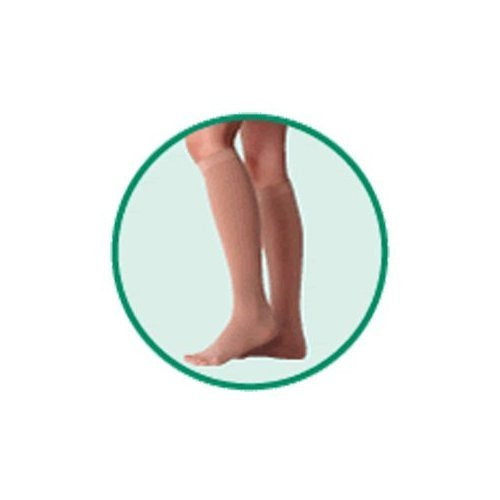 Varin Soft Below-Knee - Full Foot Stocking, Beige, Size 5, Extra Large, Compression 30-40 mmHg, 1 P