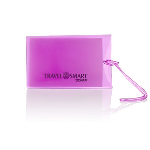 Travel Smart by Conair Jumbo Jelly Luggage Tag, Purple