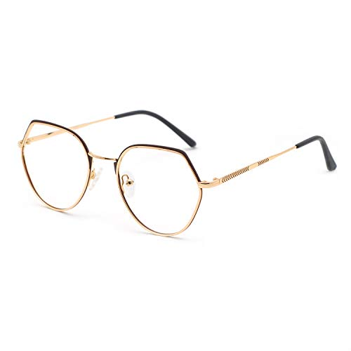 OCCI CHIARI Fashion Soft Silicon Nose Pads Metal Eyeglasses Frame With 53mm Clear Len