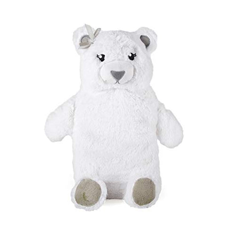 Hot Water Bottle with Novelty Plush Warm Cosy Luxuriously Super Soft Cover Premium Natural Rubber 750 ml Bag (Polar Bear)