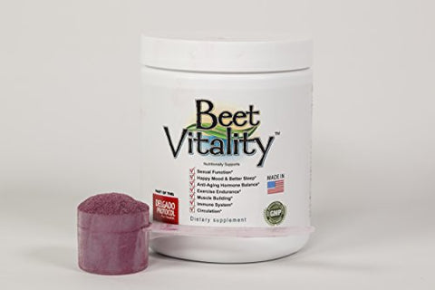 Beet Vitality - Delicious Organic Beetroot Powder - for Energy Boost, Heart Health, and Youthful Appearance