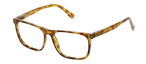 Peepers by PeeperSpecs Highbrow Focus Non Polarized Square Blue Light Filtering Reading Glasses, Honey Tortoise, 56 mm 2