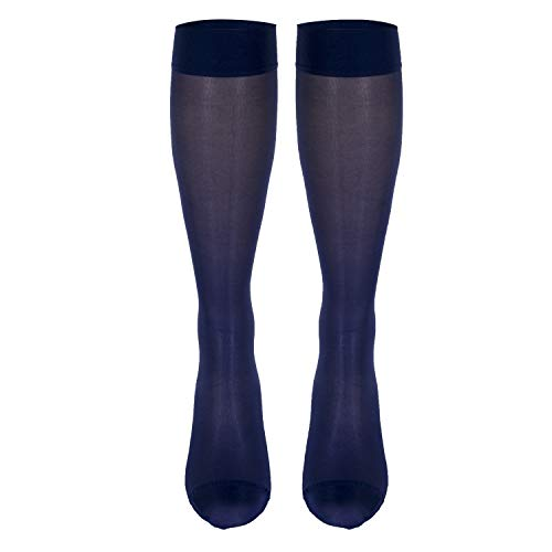Truform Sheer Compression Stockings, 15-20 mmHg, Women's Knee High Length, 20 Denier, Purple, Medium