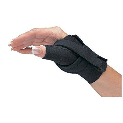 Comfort Cool Thumb CMC Restriction Splint, Provides Direct Support for The Thumb CMC Joint While Allowing Full Finger Function, Right Hand, Medium Plus