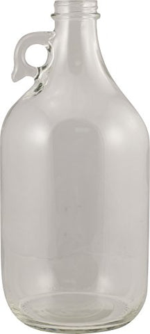 Glass Bottles - 1/2 Gallon Flint Jug with Handle (Pack of 6)